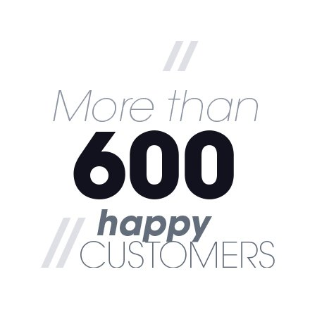 More than 600 happy customers